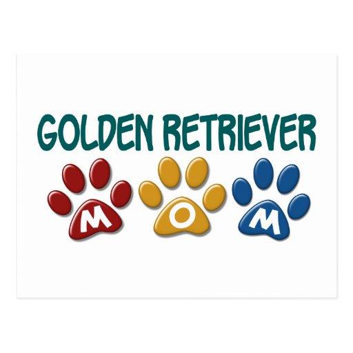 GOLDEN RETRIEVER Mom Paw Print 1 Post Cards