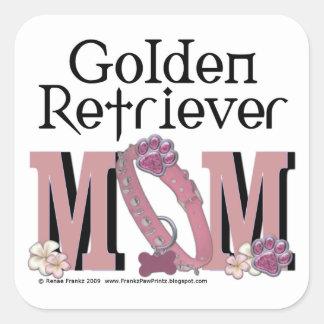 Golden Retriever MOM Square Sticker