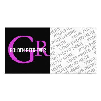 Golden Retriever Monogram Custom Photo Card