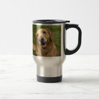 Golden retriever mother ♪ travel mug