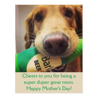 Golden Retriever Mother's Day Postcard