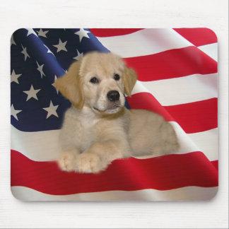 Golden Retriever Mousepad All American Puppy