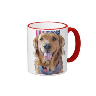 Golden Retriever Mug July 4 Mugs