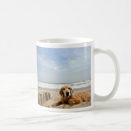 Golden Retriever Mug Sandcastles