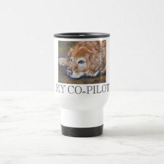 Golden Retriever MY CO-PILOT travel mug