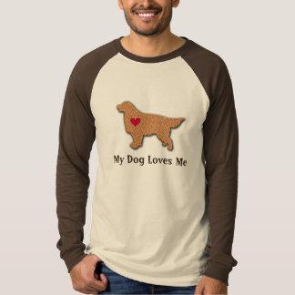 Golden Retriever My Dog Loves Me T-Shirt