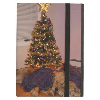 Golden Retriever Nap Under the Christmas Tree iPad Air Cover
