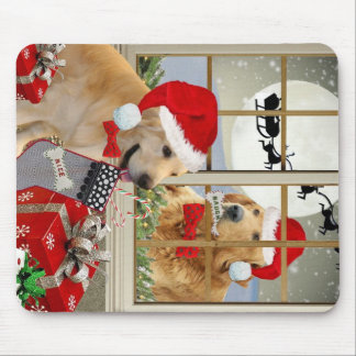 "Golden Retriever ""Naughty or Nice"" gifts Mouse Pad"