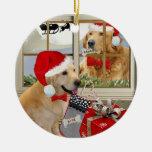 "Golden Retriever ""Naughty Or Nice"" Ornament"