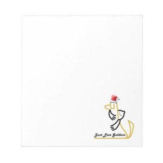 Golden Retriever Notepad, Just Love Goldens