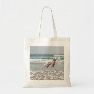 Golden Retriever Ocean In Motion Tote Bag