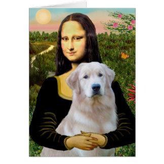 Golden Retriever (Ok13) - Mona Lisa Card