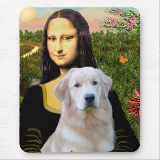Golden Retriever (Ok13) - Mona Lisa Mouse Pad