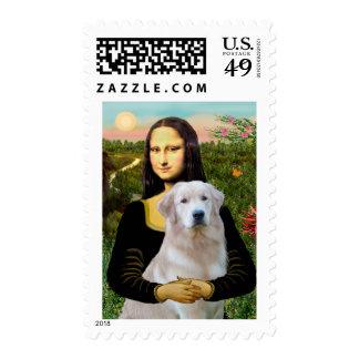 Golden Retriever Ok13 - Mona Lisa Postage Stamp