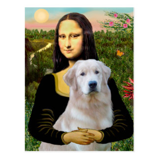 Golden Retriever (Ok13) - Mona Lisa Postcard