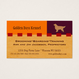 Golden Retriever or other Dog Services Business Card