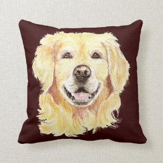 Golden retriever original de la acuarela, mascota  almohada