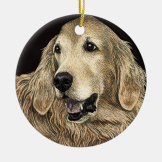 "Golden Retriever Ornament - ""Bear"""