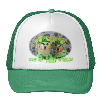 Golden Retriever Out of this World Aliens Trucker Hat