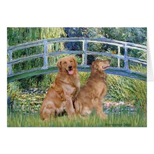 Golden Retriever Pair 1 - Lily Bridge Card