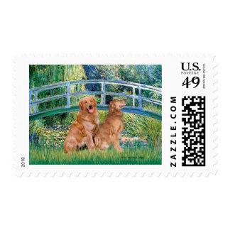 Golden Retriever Pair 1 - Lily Bridge Stamp