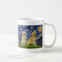 Golden Retriever Pair 3 - Starry Night Coffee Mug