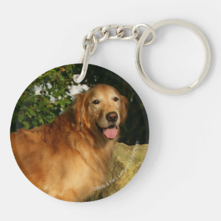 Golden Retriever Panting Keychain