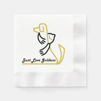 Golden Retriever Paper Napkin