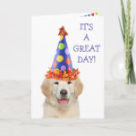 Golden Retriever Party Puppy Birthday Card