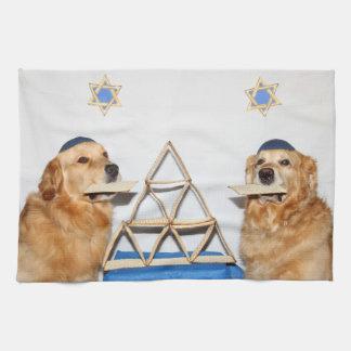 Golden Retriever Passover Matzo Hand Towel