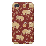 Golden Retriever Pattern Covers For iPhone 4