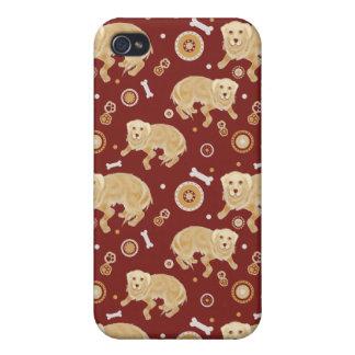 Golden Retriever Pattern iPhone 4/4S Cases