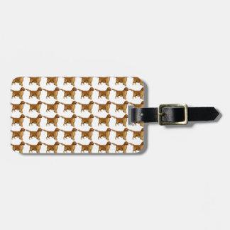 Golden retriever pattern luggage tag
