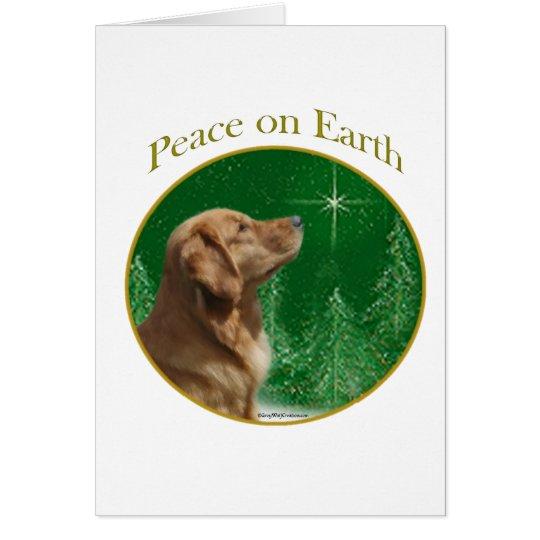 Golden Retriever Peace Card