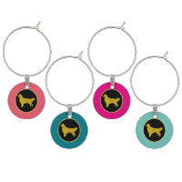 Golden Retriever Personalize Your Color Wine Charm