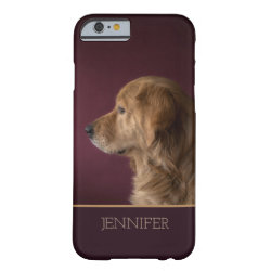 Golden Retriever Personalized Name | Dog Barely There iPhone 6 Case