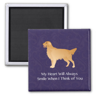 Golden Retriever - Pet Memorial- Thinking of You 2 Inch Square Magnet
