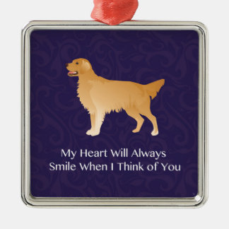 Golden Retriever - Pet Memorial- Thinking of You Metal Ornament