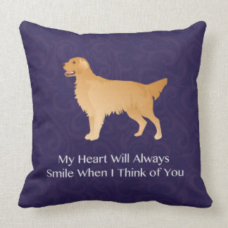 Golden Retriever - Pet Memorial- Thinking of You Throw Pillows
