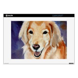 Golden Retriever Pet Portrait Laptop Decal