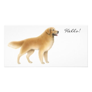 Golden Retriever Photo Card