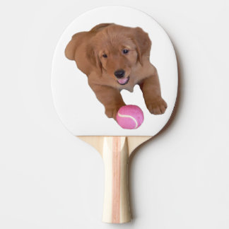 Golden Retriever Ping Pong Paddle