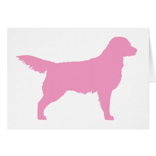 Golden Retriever (pink) Greeting Card