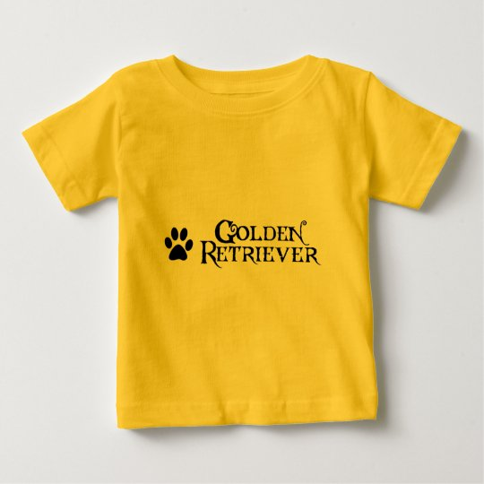 Golden Retriever (pirate style w/ pawprint) Baby T-Shirt
