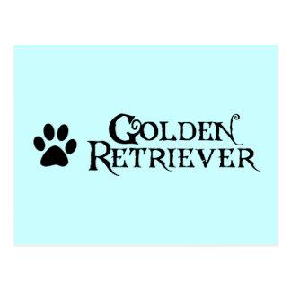 Golden Retriever (pirate style w/ pawprint) Postcard