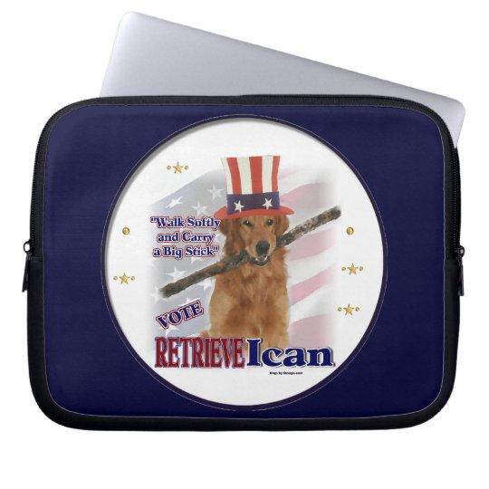 Golden Retriever Political Humor Laptop Sleeve
