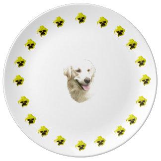 Golden Retriever Porcelain Plate