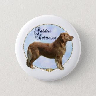 Golden Retriever Portrait - Button