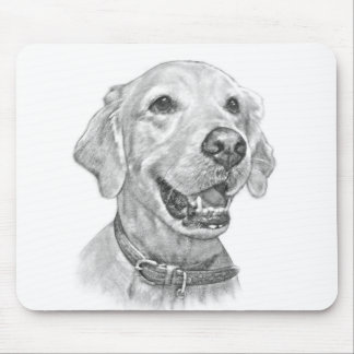 Golden Retriever Portrait Mouse Pad