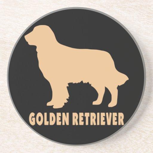 Golden retriever posavasos de arenisca